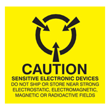 2x2 Caution Electronic Devices Labels